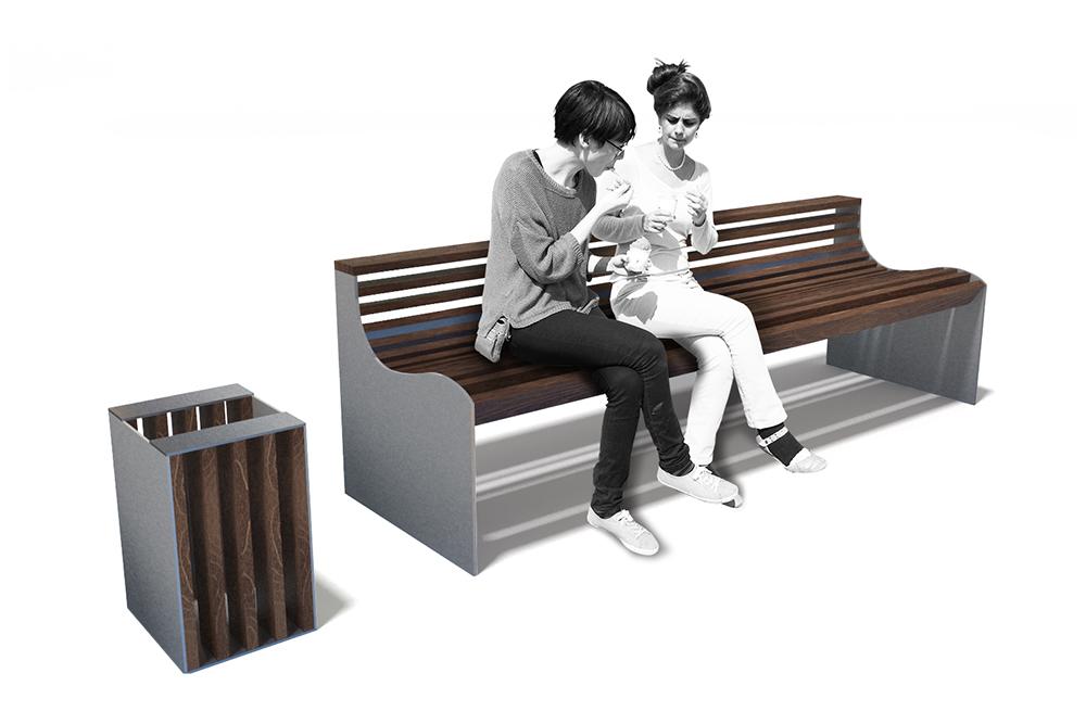 3d mobilier urbain bancs et poubelles graphisme architecture d 39 - Mobilier urbain design ...