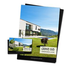 Previous<span>Carte de visite et chemise à rabat Grand Sud Immobilier</span><i>→</i>