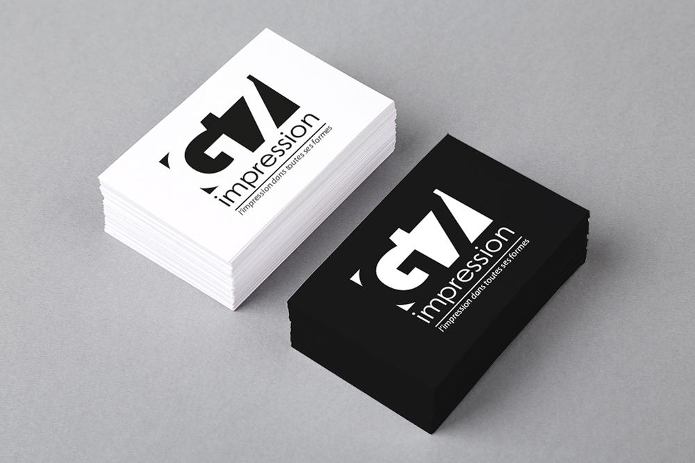 Populaire Logo et carte de visite G7 Impression | Graphisme & Architecture d  GJ03