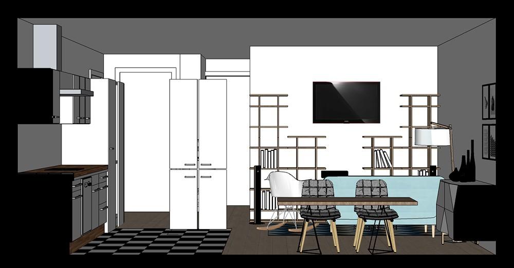 appartement particulier visuel 3d et coupes graphisme infographie 3d. Black Bedroom Furniture Sets. Home Design Ideas