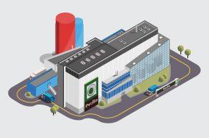Création d'une infographie / illustration en isométrie au vecteur